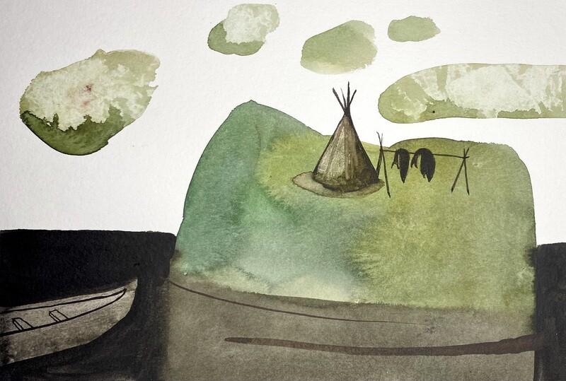 Travis Shilling Watercolour, Not Dark Yet