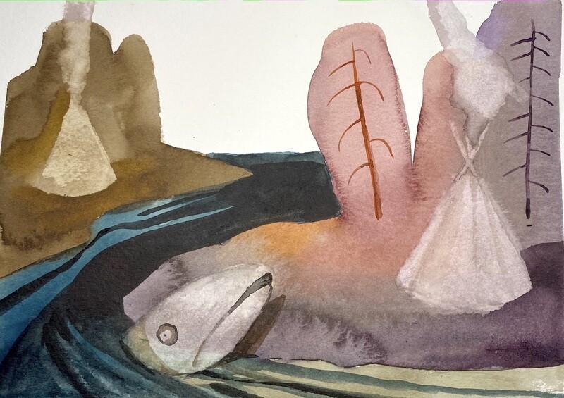 Travis Shilling Watercolour, The River