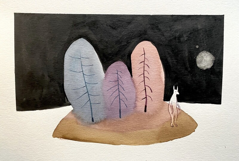 Travis Shilling Watercolour, Stand by Me