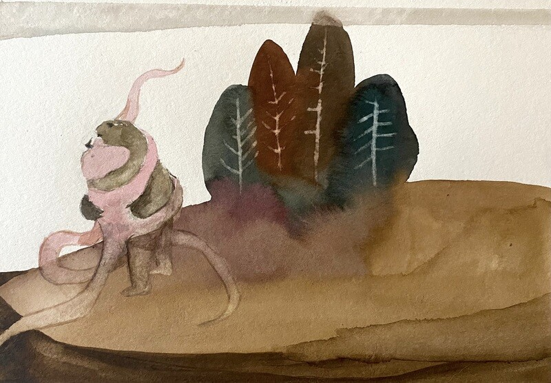 Travis Shilling Watercolour, Hold On