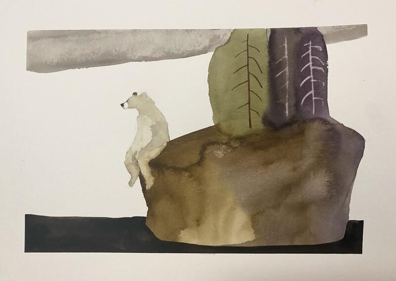 Travis Shilling Watercolour, Bear