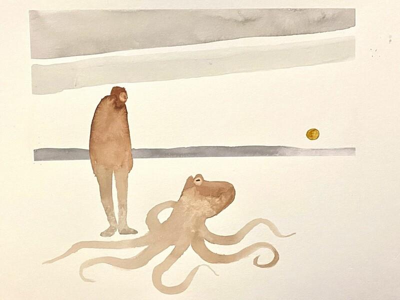 Travis Shilling Watercolour, Octopus