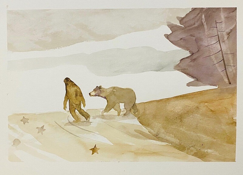 Travis Shilling Watercolour, Afternoon