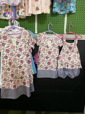 Purple Floral Dress Size 10-12