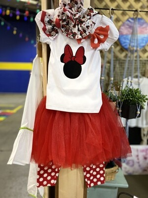 Embroidered Minnie Mouse Top with Tulle Skirt