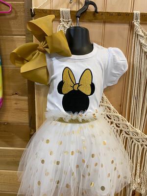 Minnie Mouse Shirt and  Tutu