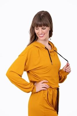 Pullover Crop Hoodie (Mustard)