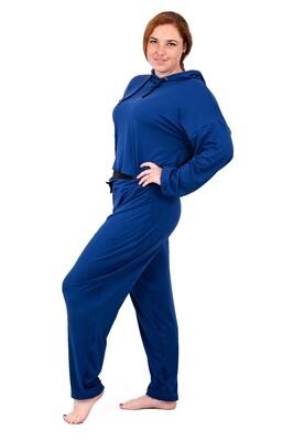 Pullover Crop Hoodie (Royal Blue)