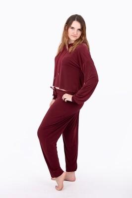 Lounge Wear Pants (Burgundy)