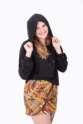 Pullover Crop Hoodie (Black)