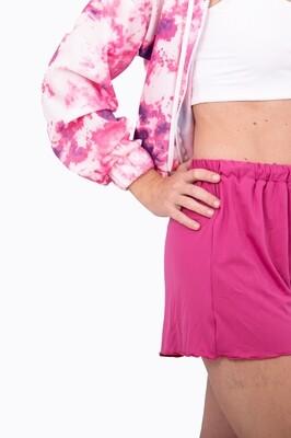 Lounge Wear Shorts (Cerise)