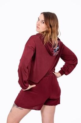 Lounge Wear Shorts (Burgundy)
