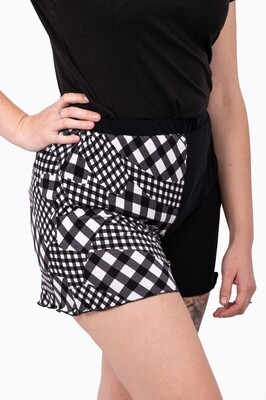 Lounge Wear Shorts (Checked)