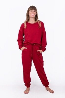 Tracksuit Pants (Burnt Red)