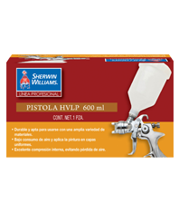 PISTOLA HVLP VASO PLASTICO 600 ML