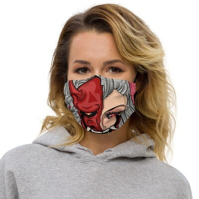 Half Hannya Premium face mask