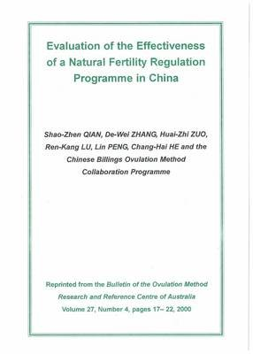 Download Evaluation of the Effectiveness of a Natural Fertility Regulation Programme in China