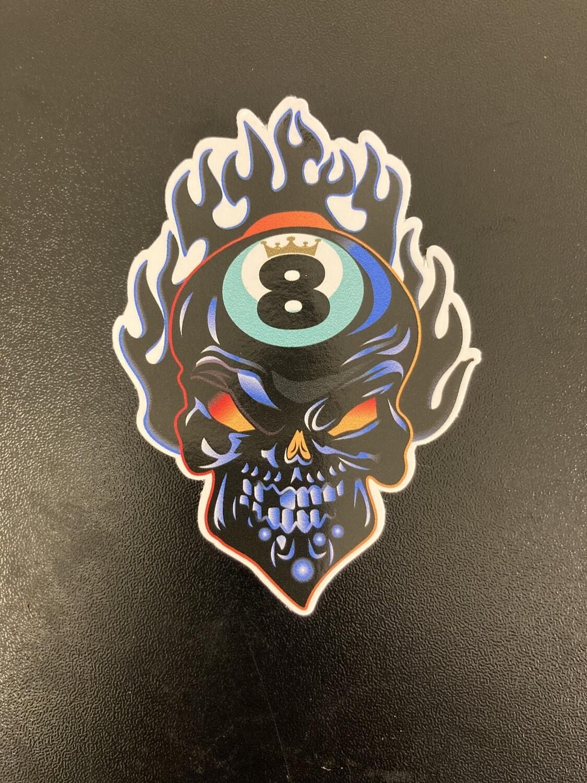 8Ball Flaming Skull 2020