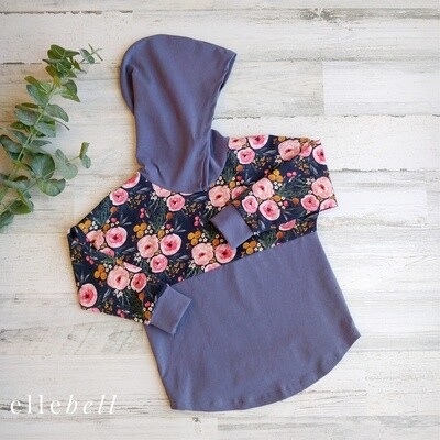 Floral Hooded Dolman