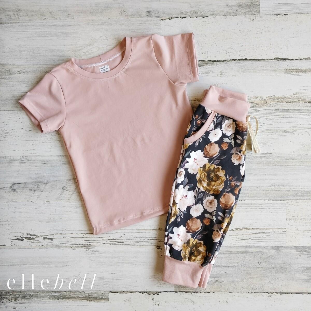 Capri Joggers/Tee - Moody Floral