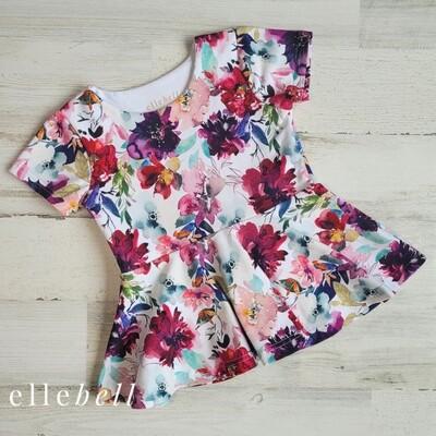 Poppy Short Sleeve Peplum Top