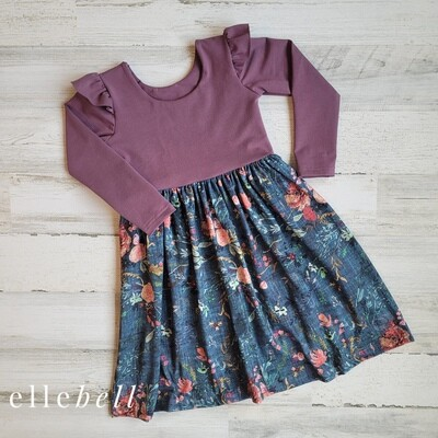 Meadow Long Sleeve Dress with Flutter Sleeves