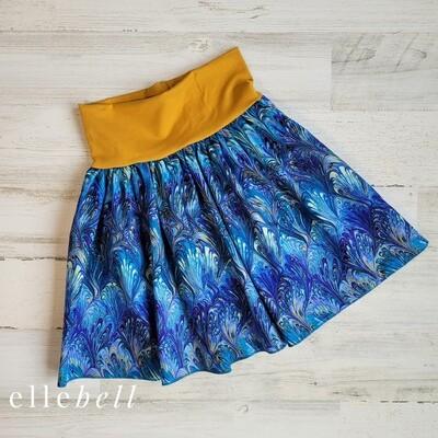 Clover Yoga Skirt - Peacock