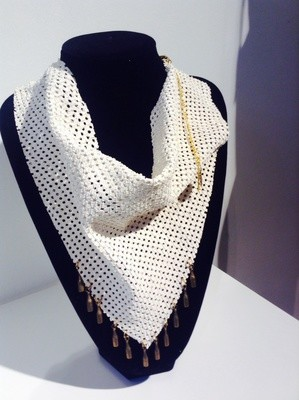 Leather scarf - necklace AJOUR