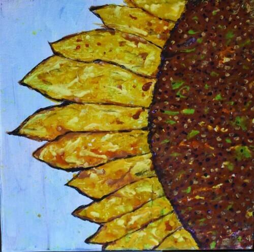 Crayon Sunflower
