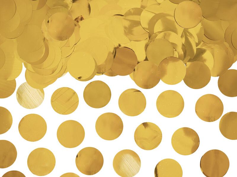 Auksinis konfeti pakuotėje, 15g