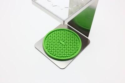 Silicone Coaster, Green.