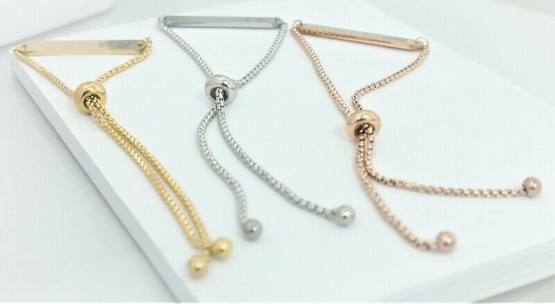 Elegant personalized bracelet adjustable to your wrist