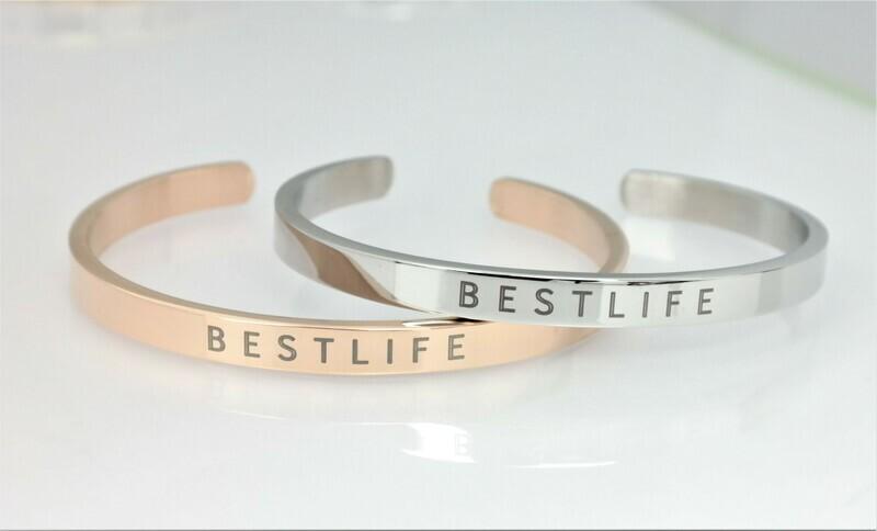 Personalized bangle bracelet 6mm