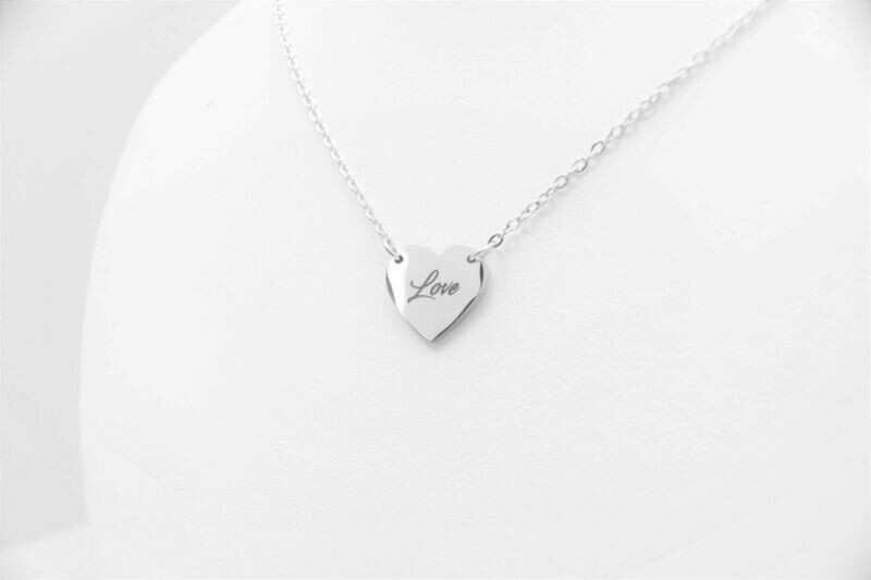 Personalized stainless steel woman Heart pendant necklace
