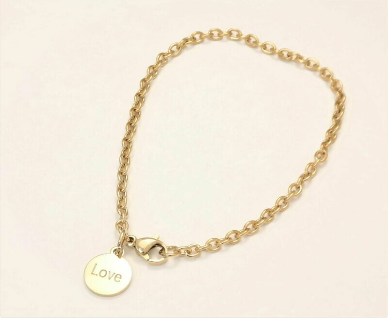Personalized stainless steel trendy link 3mm bracelet