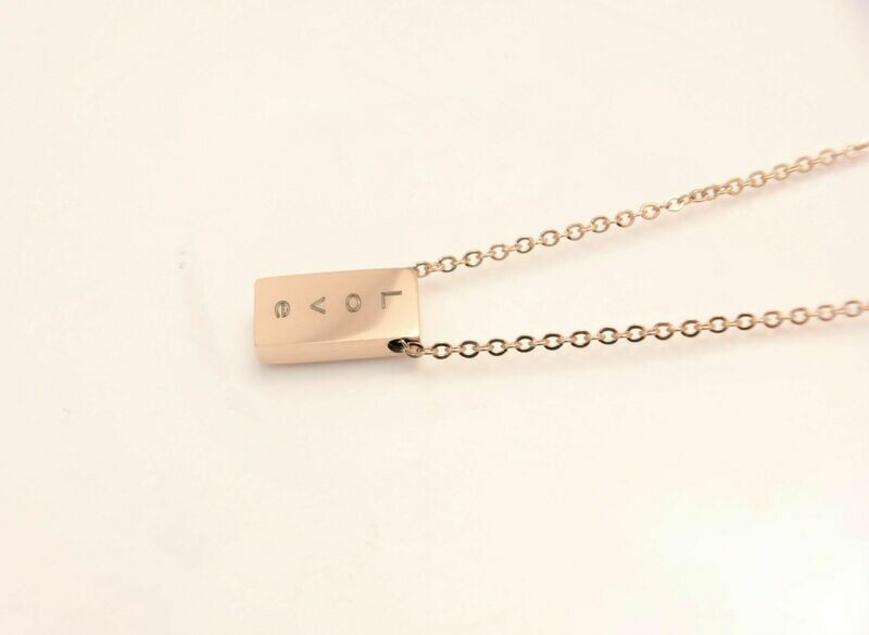 Personalized stainless steel trendy slider pendant with assorted chain