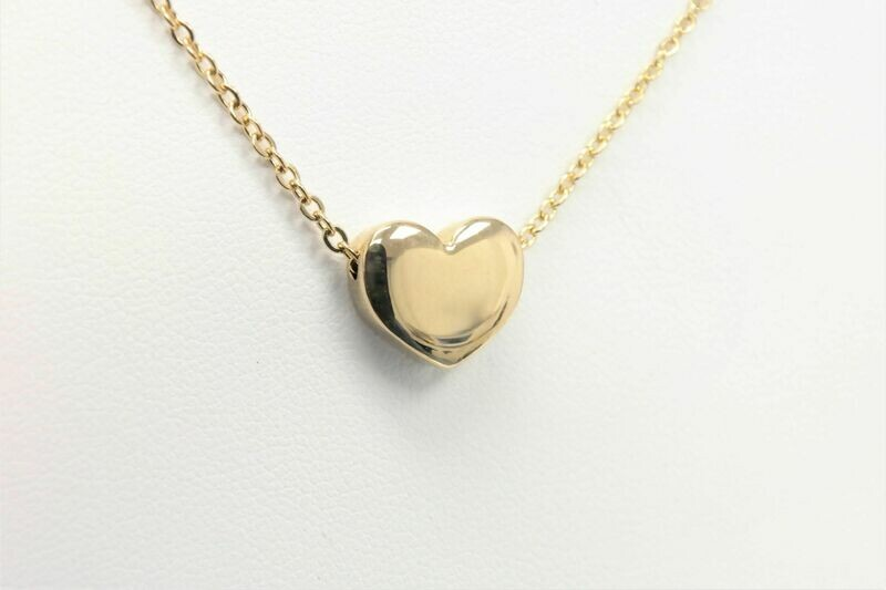 Personalized high-quality golden heart necklace made of high-quality stainless steel