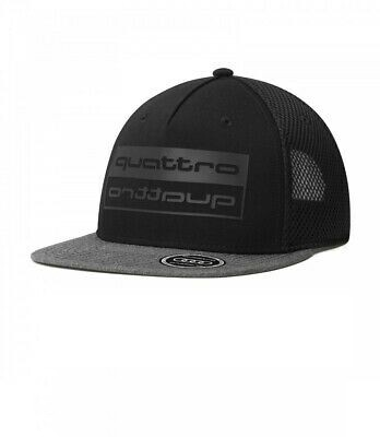 Бейсболка унисекс Audi quattro Cap, black/grey