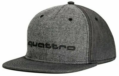 Бейсболка пилота Audi quattro Unisex Cap, Flat Brim, Grey