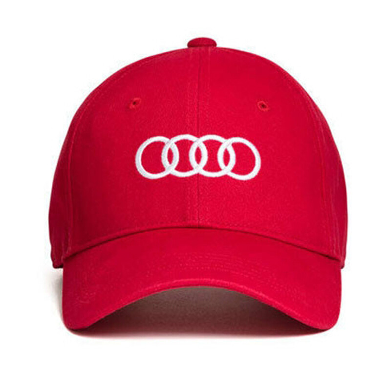 Бейсболка унисекс Audi Rings Unisex Baseball Сap, Red