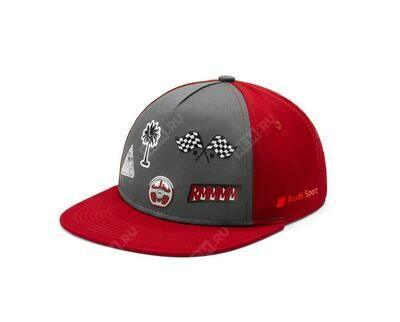 Детская бейсболка Audi Sport Baseball Cap, Infants, grey/red