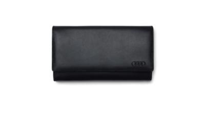 Женский кожаный кошелек Audi Wallet Leather, Womens, Black