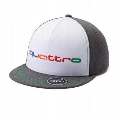 Детская бейсболка Audi Kids Snapback Cap quattro, grey / green