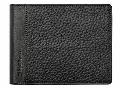 Мужской кожаный кошелек Audi Sport Men's Wallet Leather, Black