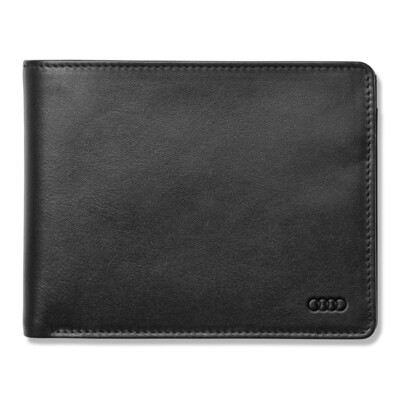 Мужской кожаный кошелек Audi Men's Wallet Leather, Black
