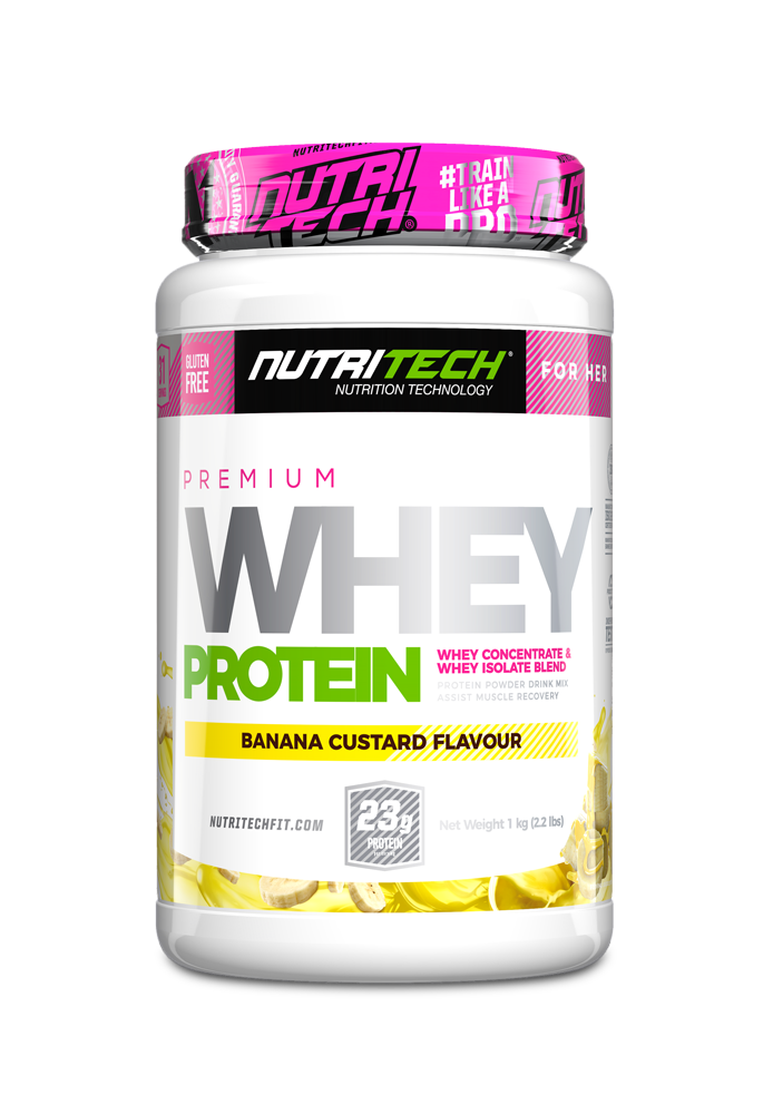 NUTRITECH Premium Whey Protein for Her Banana Custard