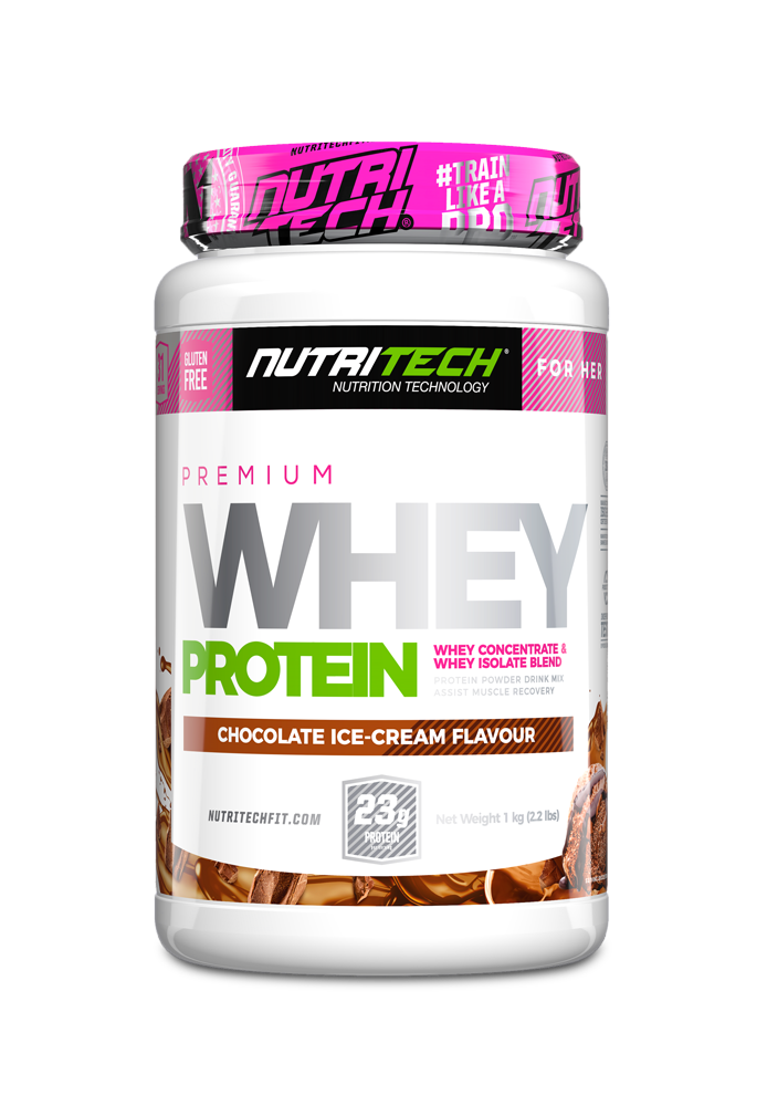 NUTRITECH Premium Whey Protein for Her Chocolate Ice-Cream