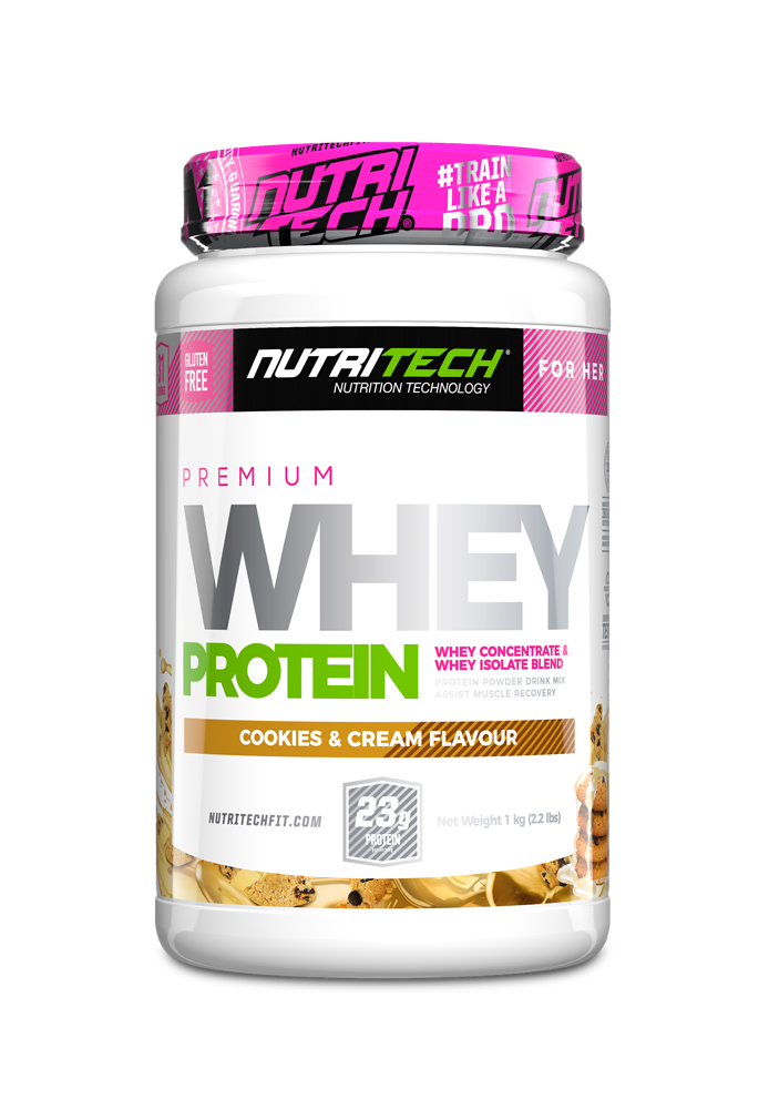 NUTRITECH Premium Whey Protein for Her Cookies & Cream