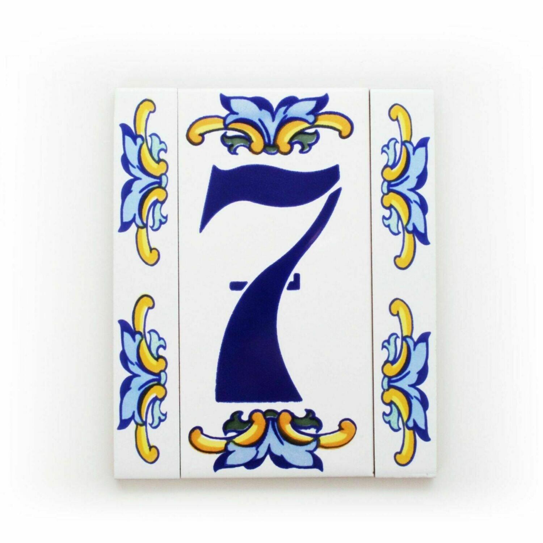 """6"""" Escarcha Handmade Spanish Ceramic House Number One Digit No Frame"""