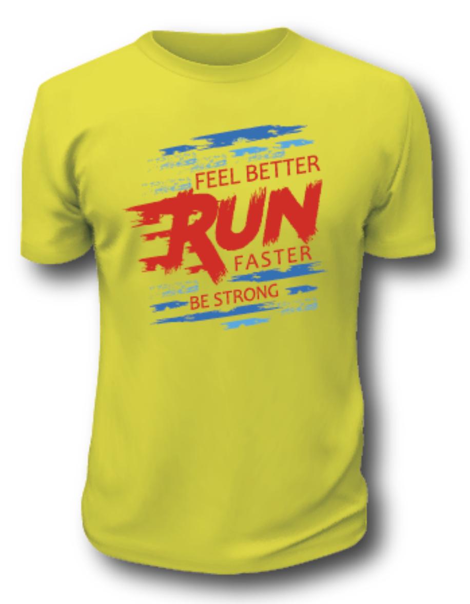 """""""Be Strong"""" Feel Better Run Faster Tech T-Shirt"""